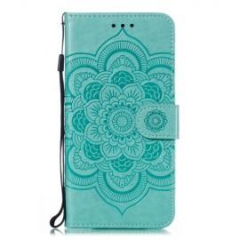 Bloemen Book Case Samsung Galaxy A20e Hoesje - Cyan