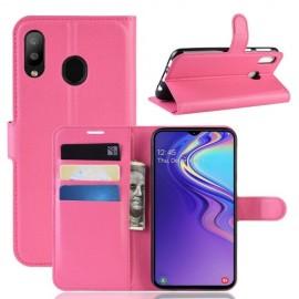 Book Case Samsung Galaxy M20 Hoesje - Roze
