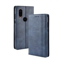 Book Case Motorola One Vision Hoesje - Blauw