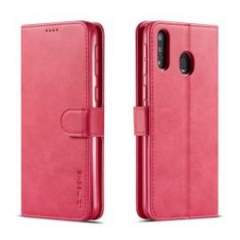 Luxe Book Case Samsung Galaxy M20 Hoesje - Roze