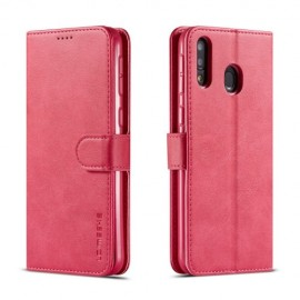 Luxe Book Case Samsung Galaxy M20 (Power) Hoesje - Roze