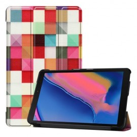 Smart Book Case Samsung Galaxy Tab A 8.0 (2019) Hoesje - Colour Squares