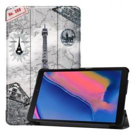 Smart Book Case Samsung Galaxy Tab A 8.0 (2019) Hoesje - Eiffeltoren