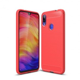 Armor Brushed TPU Xiaomi Redmi Note 7 Hoesje - Rood