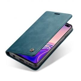 CaseMe Book Case Samsung Galaxy S10 Hoesje - Blauw