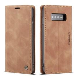 CaseMe Book Case Samsung Galaxy S10 Hoesje - Bruin