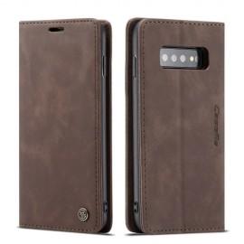 CaseMe Book Case Samsung Galaxy S10 Hoesje - Donkerbruin