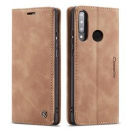 CaseMe Book Case Huawei P30 Lite Hoesje - Bruin