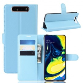 Book Case Samsung Galaxy A80 Hoesje - Lichtblauw