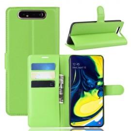 Book Case Samsung Galaxy A80 Hoesje - Groen