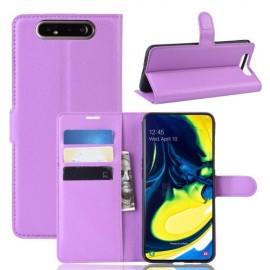 Book Case Samsung Galaxy A80 Hoesje - Paars