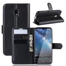 Book Case Nokia 2.2 Hoesje - Zwart