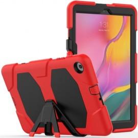 Heavy Duty Case Samsung Galaxy Tab A 10.1 (2019) Hoesje - Rood