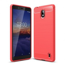 Armor Brushed TPU Nokia 1 Plus Hoesje - Rood