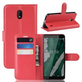 Book Case Nokia 1 Plus Hoesje - Rood