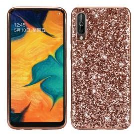 Glitter TPU Samsung Galaxy A50 Hoesje - Rose Gold