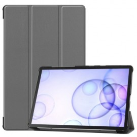 Smart Book Case Samsung Galaxy Tab S6 Hoesje - Grijs