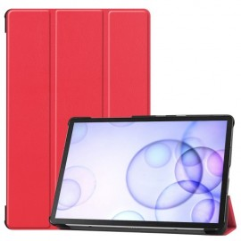Smart Book Case Samsung Galaxy Tab S6 Hoesje - Rood