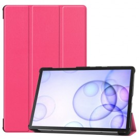 Smart Book Case Samsung Galaxy Tab S6 Hoesje - Roze