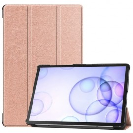 Smart Book Case Samsung Galaxy Tab S6 Hoesje - Rose Gold