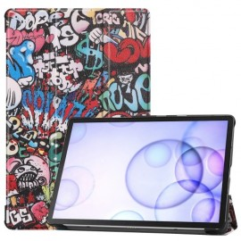 Smart Book Case Samsung Galaxy Tab S6 Hoesje - Graffiti