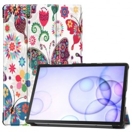 Smart Book Case Samsung Galaxy Tab S6 Hoesje - Vlinders