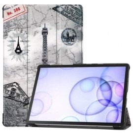 Smart Book Case Samsung Galaxy Tab S6 Hoesje - Eiffeltoren