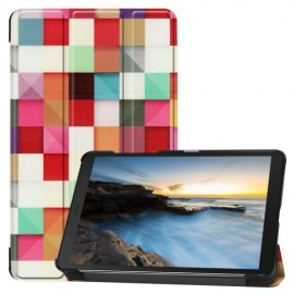 Tri-Fold Book Case Samsung Galaxy Tab A 8.0 (2019) Hoesje - Colour Squares