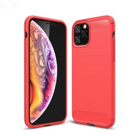 Armor Brushed TPU iPhone 11 Pro Hoesje - Rood