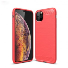 Armor Brushed TPU iPhone 11 Pro Max Hoesje - Rood