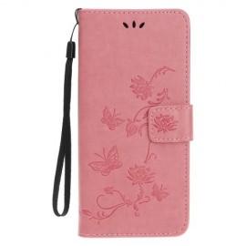 Bloemen Book Case iPhone 11 Pro Hoesje - Pink