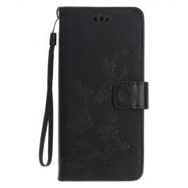 Bloemen Book Case iPhone 11 Hoesje - Zwart