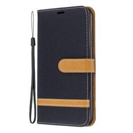 Denim Book Case iPhone 11 Pro Max Hoesje - Zwart