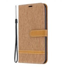 Denim Book Case iPhone 11 Pro Max Hoesje - Bruin