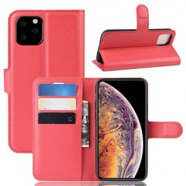 Book Case iPhone 11 Pro Max Hoesje - Rood