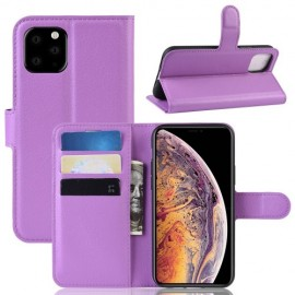 Book Case iPhone 11 Pro Max Hoesje - Paars