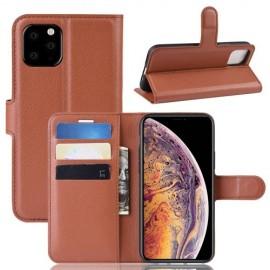 Book Case iPhone 11 Pro Max Hoesje - Bruin