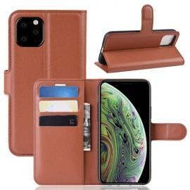 Book Case iPhone 11 Pro Hoesje - Bruin