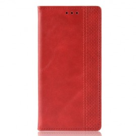 Book Case Motorola One Zoom Hoesje - Rood