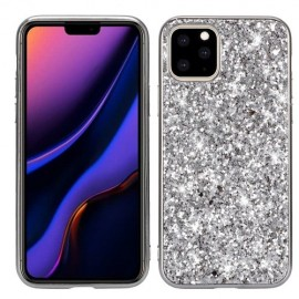 Glitter TPU iPhone 11 Pro Max Hoesje - Zilver