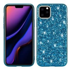 Glitter TPU iPhone 11 Hoesje - Blauw