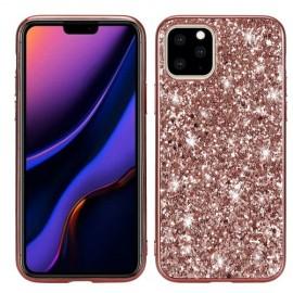 Glitter TPU iPhone 11 Pro Hoesje - Rose Gold