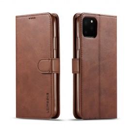 Luxe Book Case iPhone 11 Pro Hoesje - Donkerbruin