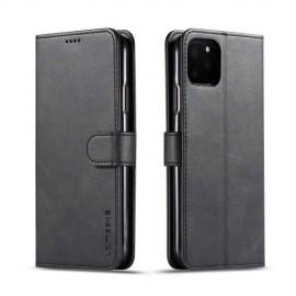 Luxe Book Case iPhone 11 Pro Max Hoesje - Zwart