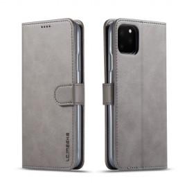 Luxe Book Case iPhone 11 Pro Max Hoesje - Grijs