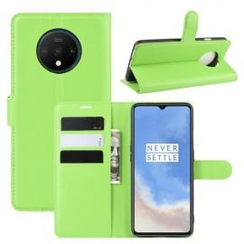 Book Case OnePlus 7T Hoesje - Groen