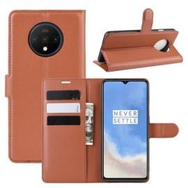 Book Case OnePlus 7T Hoesje - Bruin