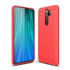 Armor Brushed TPU Xiaomi Redmi Note 8 Pro Hoesje - Rood