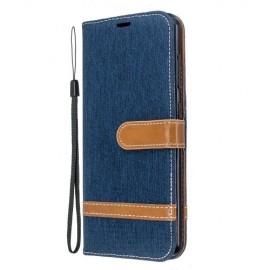 Denim Book Case Nokia 6.2 / 7.2 Hoesje - Blauw