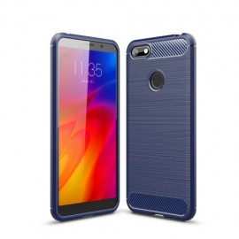 Armor Brushed TPU Motorola Moto E6 Play Hoesje - Blauw